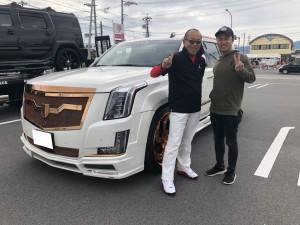 3台目ご購入有難うございます! 愛知県のM様にキャデラック エスカレードESV ネクストネイションをご納車させて頂きました。