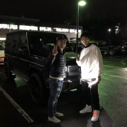 北海道日本ハムファイターズ 西川遥輝選手にメルセデスベンツ G63をご納車させて頂きました!