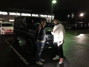 北海道日本ハムファイターズ 西川遥輝選手にメルセデスベンツ G63をご納車させて頂きました。