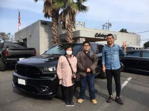 神奈川県のI様に 新車 ダッジ デュランゴ RTをご納車させていただきました。