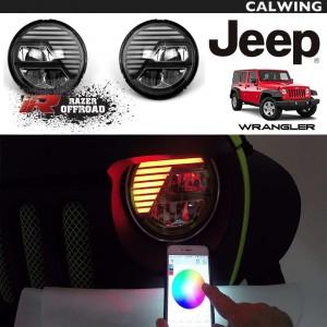 高輝度 LEDヘッドライトセット エクストリームスカル RGB RAZER AUTO/レーザーオート | JEEP/ジープ WRANGLER/ラングラー JK '07y〜'18y【アメ車パーツ】