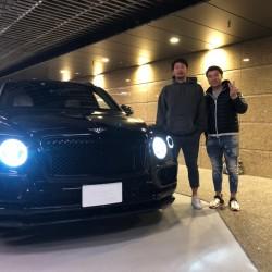 6台目のご購入有難うございます!東北楽天イーグルス浅村栄斗選手にベントレー ベンテイガをご納車させていただきました!