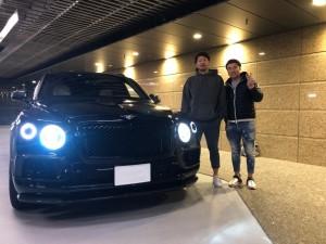 6台目のご購入有難うございます!東北楽天イーグルス浅村栄斗選手にベントレー ベンテイガをご納車させていただきました。