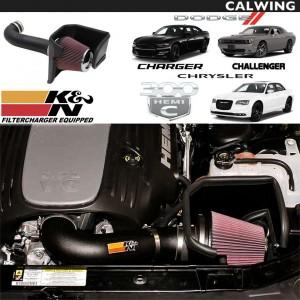 エアインテークキット 63シリーズ ブラックコールドエアインテークシステム レッドフィルター付き K&N | DODGE/ダッジ CHALLENGER/チャレンジャー CHAGER/チャージャー CHRYSLER/クライスラー 300C '11y~'19y 【アメ車パーツ】