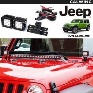 シングルLEDオフロード ライト ウインドマウントブラケットセット LED ワークライト 2個入1セット | JEEP/ジープ WRANGLER/ラングラー JL '18y~ 【アメ車パーツ】