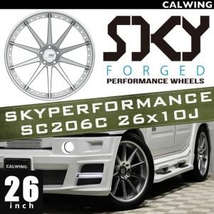 HUMMER/ハマー H2 H2T | ホイール タイヤ4本セット SKYPERFORMANCE SC206C ホイール シルバー 26x10J ET+10 タイヤサイズ315 40R26 【アメ車パーツ