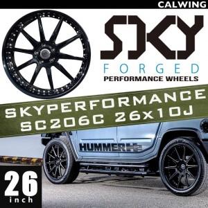 HUMMER/ハマー H2 H2T | ホイール タイヤ4本セット SKYPERFORMANCE SC206C ホイール ブラック 26x10J ET+10 タイヤサイズ315 40R26 【アメ車パーツ】
