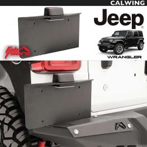 JEEP/ジープ WRANGLER/ラングラー JL '18y~ | リアライセンスプレートブラケット リロケートキット ブラックパウダーコート SEMA MADE IN USA FAB FOURS/ファブフォース 【アメ車パーツ】