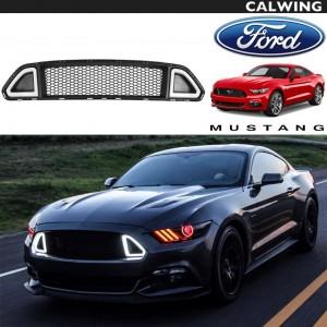 FORD/フォード MUSTANG/マスタング '15y~'17y | フロントグリル DRL グリル ライト付き マッスルカスタム 【アメ車パーツ】