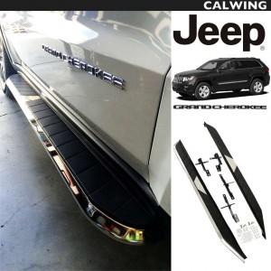 JEEP/ジープ GRAND CHEROKEE/グランドチェロキー '11y~ | スタイリッシュなデザインで乗り降り便利!ランニングボード サイドステップ クローム2本セット 【アメ車パーツ】