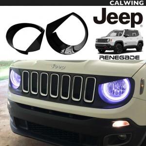 JEEP/ジープ RENEGADE/レネゲード '16y~ | ヘッドライトカバー インサートトリム ブラック 2個セット 【アメ車パーツ】