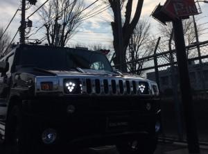 HUMMER H2 LEDヘッドライト 取付!!  ハマー カスタム デイライト イカリング