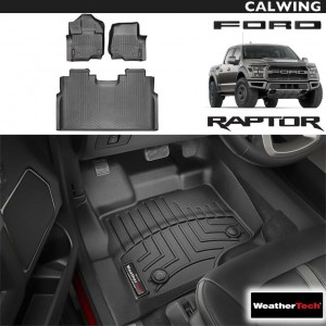 【車種専用設計】FORD/フォード F-150 RAPTOR/ラプター スーパークルー '15y~'19y | フロアマット ブラック フロント&リア 3枚セット ウェザーテック/WeatherTech【アメ車パーツ】