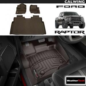 【車種専用設計】FORD/フォード F-150 RAPTOR/ラプター スーパークルー '15y~'19y | フロアマット ココア フロント&リア 3枚セット ウェザーテック/WeatherTech【アメ車パーツ】