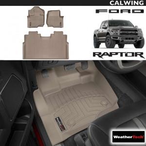 【車種専用設計】FORD/フォード F-150 RAPTOR/ラプター スーパークルー '15y~'19y | フロアマット タン フロント&リア 3枚セット ウェザーテック/WeatherTech【アメ車パーツ】