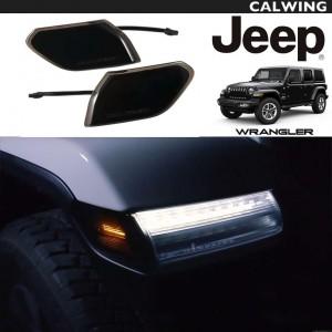 JEEP/ジープ WRANGLER/ラングラー JL '18y~ | LEDサイドマーカー ブラックスモークレンズ 純正交換タイプ DIODE DYNAMICS 超高輝度 防水 【アメ車パーツ】
