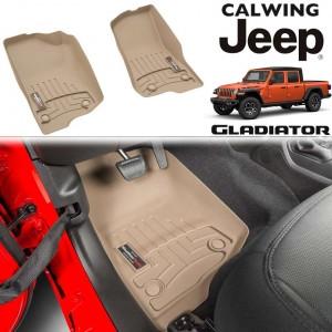 【車種専用設計】JEEP/ジープ GLADIATOR/グラディエーター '19y- | フロアマット タン フロアライナー WeatherTech【アメ車パーツ】