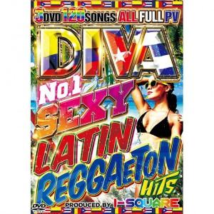 I-SQUARE DIVA NO.1 SEXY LATIN REGGAETON HITS DVD 3枚組 全120曲!