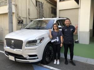東京都のM社長様に新車 リンカーン ナビゲーター ロング ブラックレーベルをご納車させていただきました!