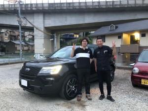 兵庫県のI様に新車 フォード エクスプローラー SPORTをご納車させていただきました。