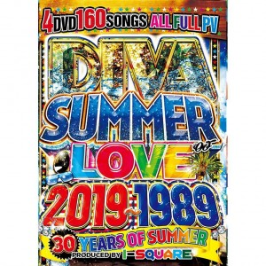 I-SQUARE DIVA SUMMER OF LOVE 2019-1989 -30 YEARS OF SUMMER- DVD 4枚組 全160曲!