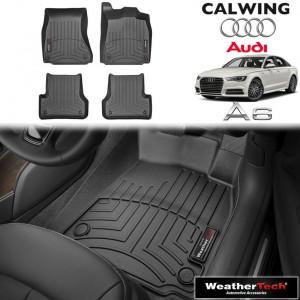 【車種専用設計】AUDI/アウディ A6 '14y-'17y | フロアマット ブラック フロアライナー 右ハンドル 4PC WeatherTech【欧州車パーツ】