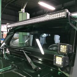 ジープ ラングラー LEDバー LEDスポットライト 取り付け カスタム