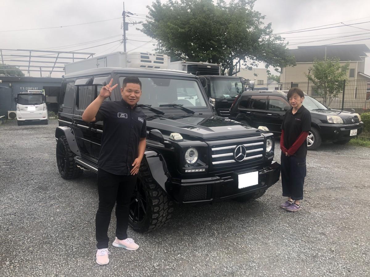 神奈川県のN様にメルセデスベンツ G550 カリフォルニアマッドスターをご納車させて頂きました!