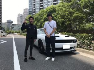 2台目のご購入有難う御座います。東京都のS社長様に 新車 ダッジ チャレンジャー ヘルキャットをご納車させて頂きました。
