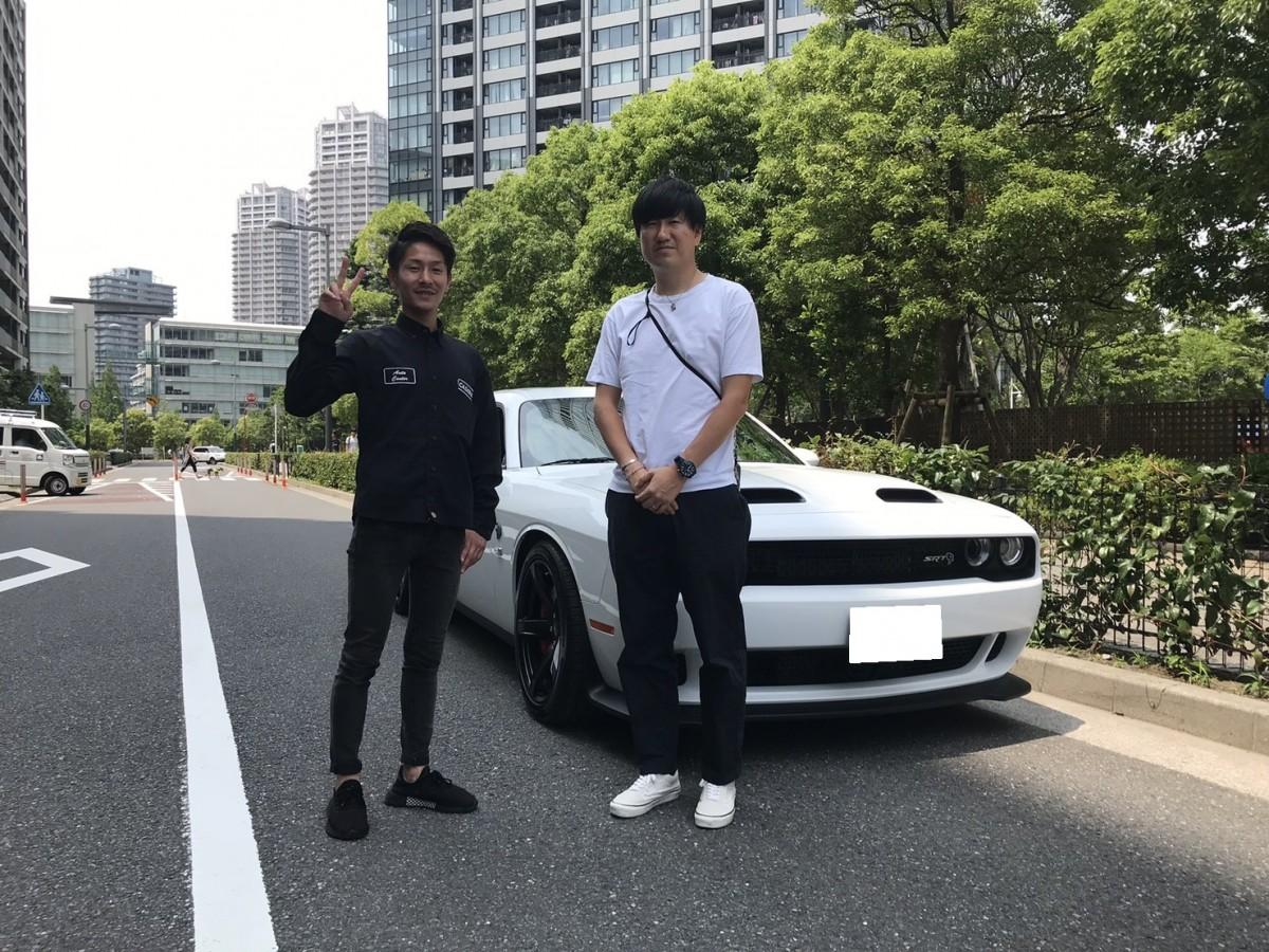 2台目のご購入ありがとうございます!東京都のS社長様に 新車 ダッジ チャレンジャー ヘルキャットをご納車させて頂きました!