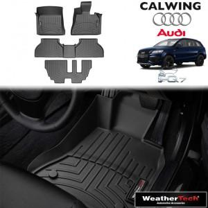【車種専用設計】AUDI/アウディ Q7 '10y-'15y | フロアマット ブラック フロアライナー フロント 右ハンドル セカンドコンソール無し WeatherTech【欧州車パーツ】