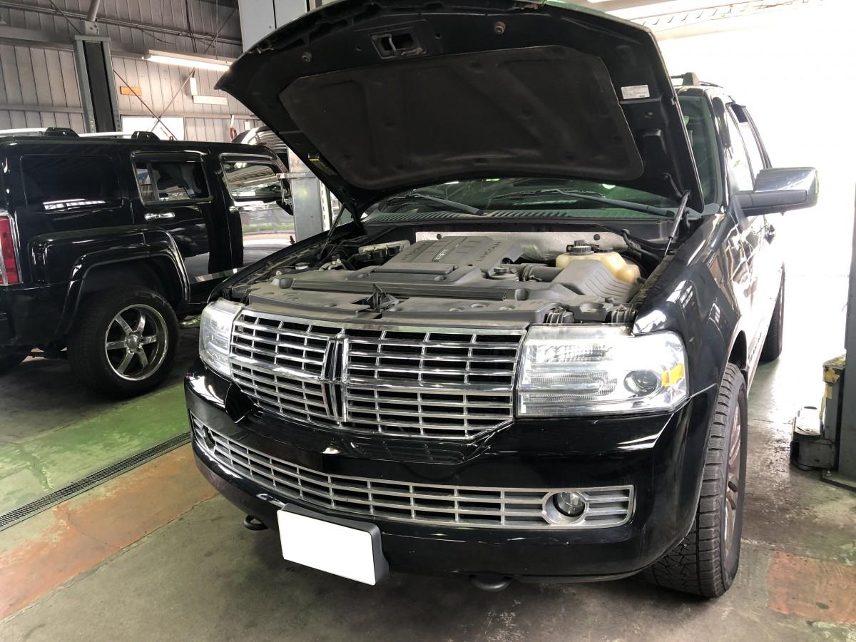 リンカーンナビゲーター ヘッドライト バーナー交換 点検 修理