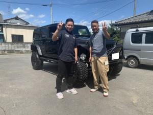 埼玉県のI社長にジープ ラングラー アンリミテッドをご納車させて頂きました。