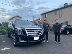 2台目のご購入有難うございます。埼玉県のS様に新車 キャデラック エスカレードESV プラチナムをご納車させていただきました。