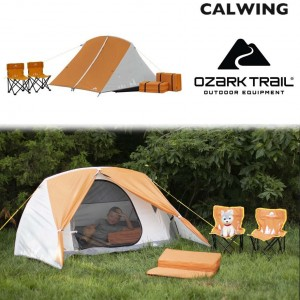 キッズキャンピングキット テント キャンプ 子供3人用 キャンプチェア/スリーピングパット付き OZARK TRAIL【汎用品】