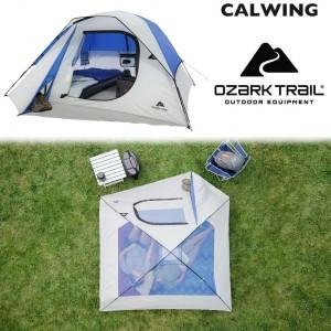 キャンピングドーム テント ブルー キャンプ 4人用 簡単セット OZARK TRAIL【汎用品】