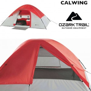 キャンピングドーム テント レッド キャンプ 4人用 簡単セットアップ OZARK TRAIL【汎用品】