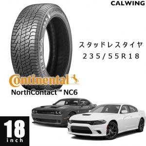 DODGE/ダッジ CHAGER/チャージャー V8 '05y- CHALLENGER/チャレンジャー '08y- | スタッドレスタイヤ 1本 18インチ CONTINENTAL ノースコンタクト6 235/55R18