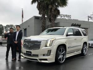 東京都のI社長様にキャデラック エスカレード NEXT NATIONをご納車させて頂きました!