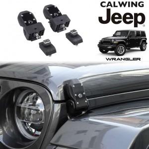 JEEP/ジープ WRANGLER/ラングラー JL '18y- | フードラッチセット フードキャッチ ビレット製 キー付き アウター【アメ車パーツ】