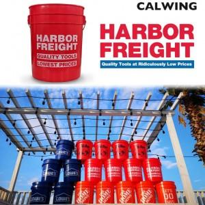 洗車バケツ MADE IN USA アメリカ大手ツール店 HARBOR FREIGHT/ハーバーフレイト レッド 5ガロン アメリカンガレージ用品