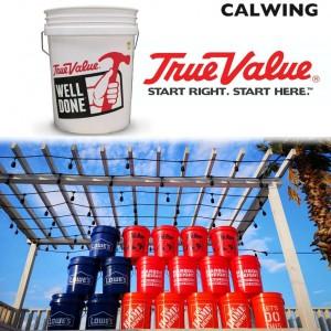 洗車バケツ アメリカ大手ホームセンター TRUE VALUE/トゥルーバリュー ホワイト 5ガロン アメリカンガレージ用品