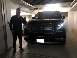 2台目のご購入ありがとうございます。神奈川県のI社長様に新車リンカーンナビゲーター 最上級グレード ブラックレーベルをご納車させて頂きました。