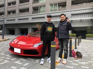 2台目のご購入ありがとうございます!東京都のI社長様にフェラーリ 488スパイダーをご納車させて頂きました!