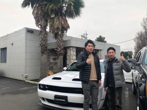 3台目のご購入有難う御座います!!東京都のM様に新車 チャレンジャー ヘルキャット ワイドボディをご納車させて頂きました。