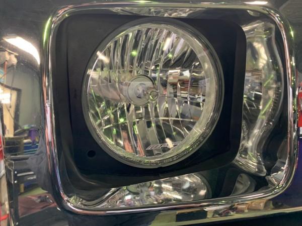 ハマー H2 ヘッドライト 曇り レンズ交換 リフレッシュ HID LED