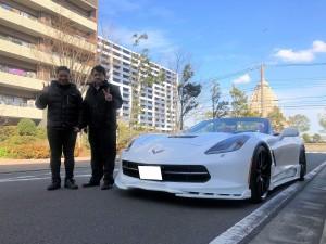 神奈川県のM様にシボレーコルベットコンバーチブル をご納車させていただきました!