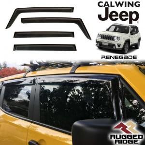 JEEP/ジープ RENEGADE/レネゲード '15y-   ドアバイザー 4PCS RUGGED RIDGE/ラギッドリッジ【アメ車パーツ】