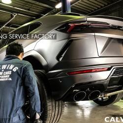 ランボールギーニ ウルス フルラッピング ホイール塗装 カスタム Lamborghini Urus