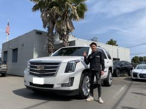 2台目のご購入ありがとうございます!埼玉県のK社長様に新車 キャデラック エスカレード プラチナムをご納車させて頂きました!